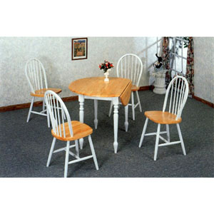 5-Pc Dinette Set With Drop Leaf Table 4146/4129 (COups)