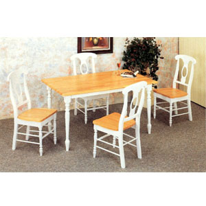 5-Pc Dinette Set In Natural And White 4147-17 (CO)