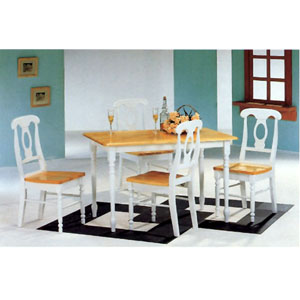 5-Pc Dinette Set In Natural And White 4147-21 (CO)