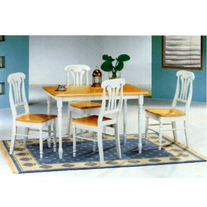 5-Pc Dinette Set In Natural And White 4147-22 (CO)
