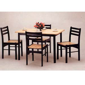 5-Pc Natural Solid Wood Dinette Set 4149/4122 (CO)
