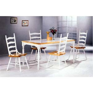 5-Pc Dining Set In Natural/White 4161-03 (CO)