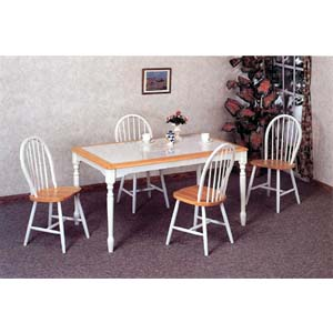 5-Pc Dinette Set In Natural/White 4161/4129 (CO)