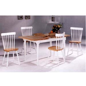 5-Pc Dinette Set In Natural/White 4164/4517 (CO)