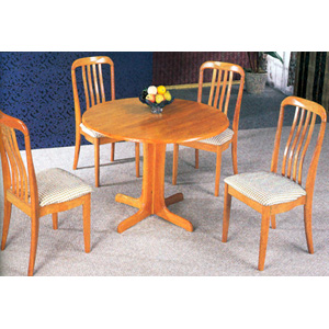 5-Pc Round Dinette Set In Oak Finish 4175-57 (CO)