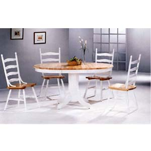 5-Pc Natural/White Dinette Set 4196/4703 (CO)
