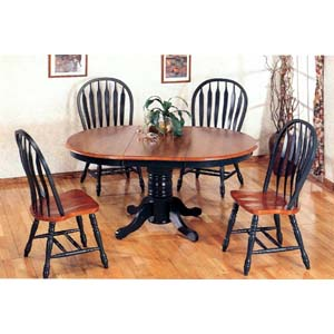 5-Pc Dark Oak And Green Dinette Set 4197-84A (CO)
