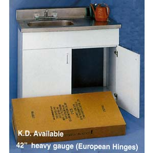 42 In. Heavy Gauge (European Hinge) K.D Sink Base (ARC)