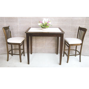3-Pc Tile Top Bistro Counter Set 422BT_/621_ (SB)
