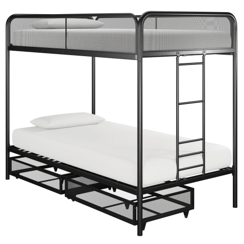 Jaxon Twin Bunk Bed With Storage 225 Lbs Weight Capacity