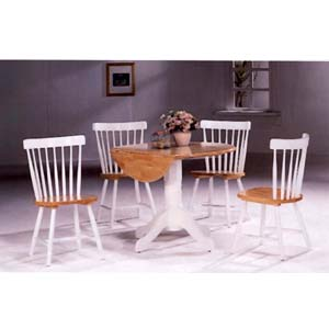 5-Pc White/Natural Dinette Set 4241/4517 (COu)