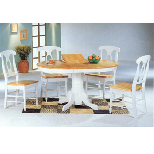 5-Pc Dinette Set In Natural/White 4254/4117 (CO)