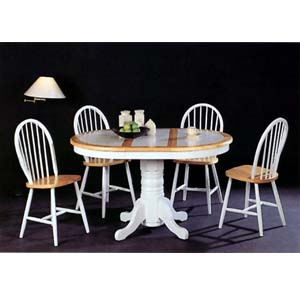 5-Pc Natural/White Dining Set 2506(ML)/4229(CO)
