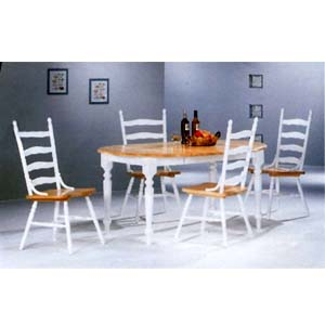 5-Pc Dinette Set In Natural/White 4258/4703 (CO)
