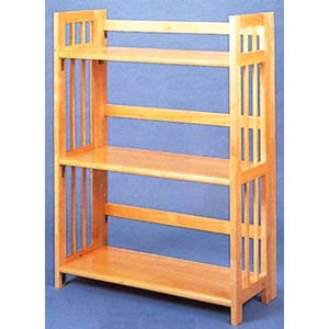 All Natural 3 Shelf Folding Bookcase 4286 (CO)