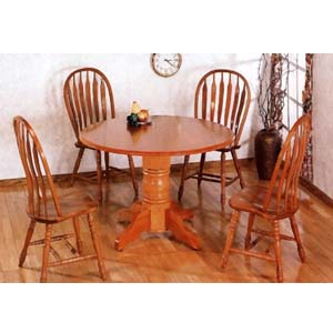 5-Pc Dining Set In Oak Finish 4351/5388A (CO)