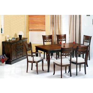 7-Pc Tobacco Oak Finish Dinette Set 4419/20/25 (CO)
