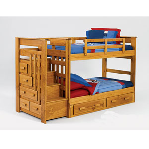 Escalade Solid Wood Twin Bunk Bed 4500 Ml More Then A
