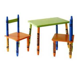 3 Piece Crayon Table & Chair Set 462(DM)