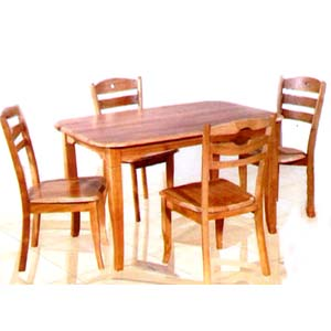 5-Pc Dinette Set In Natural Finish 4753/85 (TOP)