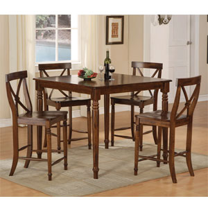 5-Pc Counter Height Dining Set 4804 (WD)