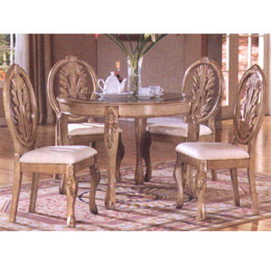 5 Pc Dining Set 48111-WH/47136-WH (VL)