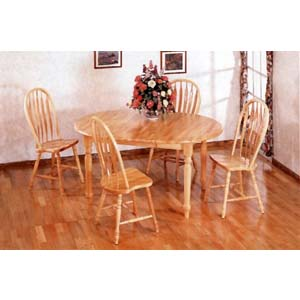 5-Pc All Natural Round Dinette Set 4866/4189A (CO)