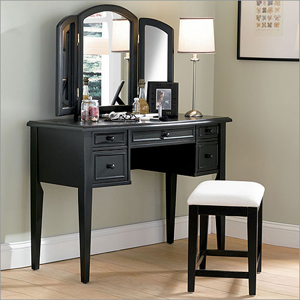 Antique Black Vanity Set 43 In. 502-290(PW)(Free Shipping)