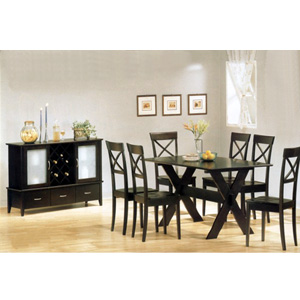 7-Pc Solid Wood Dining Set 5064/65 (CO)