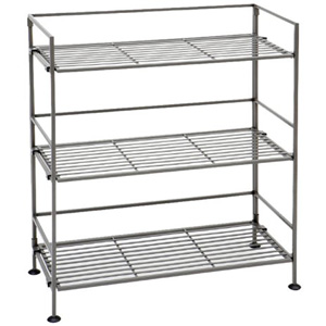 3-Tier Iron Rectangular Bookcase Shelf SHE04117(AZ45)