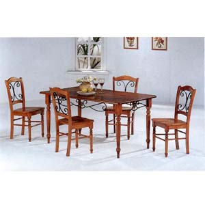 5-Pc Dar Oak Dinette set 5425/26 (CO)