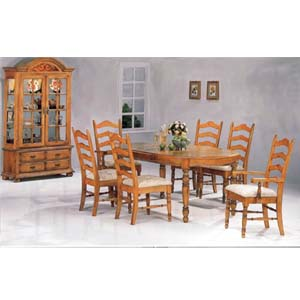 7-Pc Pine Finish Dinette Set 5511/12/13 (CO)