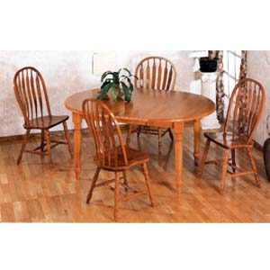 5-Pc Oak Finish Dining Set 5866/5388A (CO)