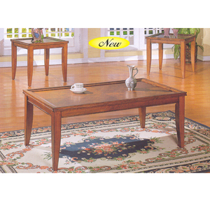 3 Pc Cherry Coffee/End Table Set 6167 (A)