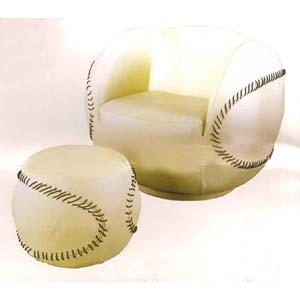 Baseball Chair U0026 Ottoman 62074 (IEM)
