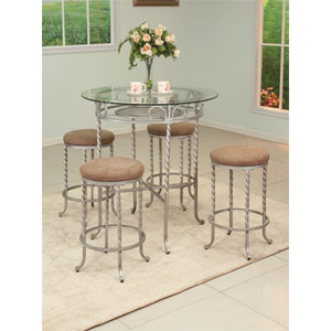 5-Pc Counter Height Dinette Set 6252-C5 (WD)