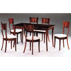 5-Piece Walnut Finish Solid Wood Dinette Set 625 (IEM)