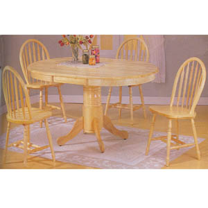 5 Pc Natural Finish Dinette Set 7015 (A)