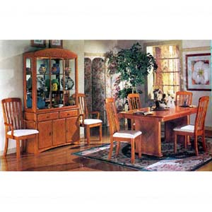 7-Piece Contemporary Style Oak Finish Dinette Set 6421 (A)