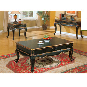 Black Coffee Table Set  700567/8/9 (CO)