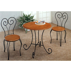 3-Pc Moustache Sandy Black Table And Chair 7015/16 (CO)