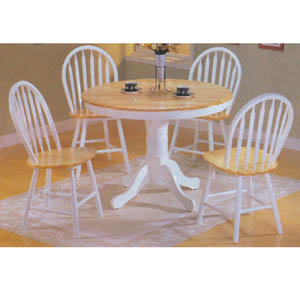 5-Pc Natural/White Dinette Set 7022 (A)