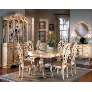 7-Piece Grand Chateau Whitewash Dinette Set 7171 (A)