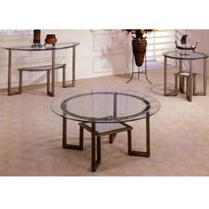 Antique Brown Finish Occasional Tables 72000_(CO)