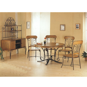 5-Pc Wood And Metal Dining Set 7236/37 (CO)