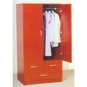 2 Door & 3 Drawer Wardrobe 7801 (ABC)