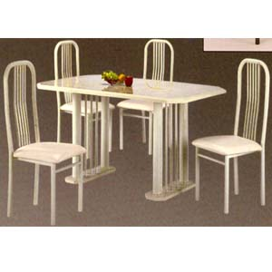 5-Pc Almond Marble Dining Set 782-36/60 (WD)
