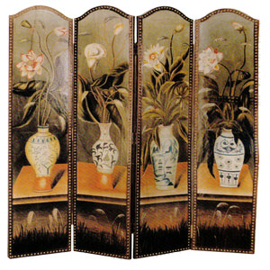 4-Panel Vase Painting Screen 7947 (ITM)