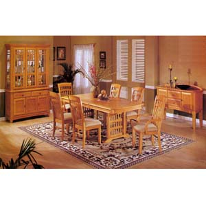 7-Piece Oak Mission Dinette Set 8054 (A)