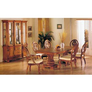 7-Piece Coronado Oak Finish Dinette Set 8609 (A)